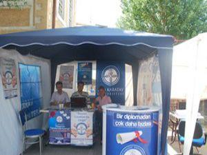 KTO Karatay Üniversitesinden tercih çadırı