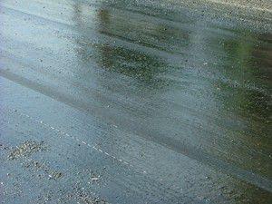 Aşırı sıcaklar asfaltı eritti