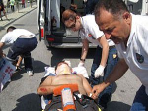 Direksiyon sınavında kaza: 2 yaralı