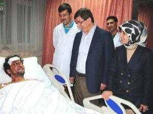 Davutoğlu hasta ziyaretinde