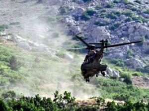 Halkapınarda helikopterli kurtarma