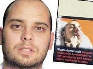 İzinsiz fotoğrafı sigara paketlerine basıldı