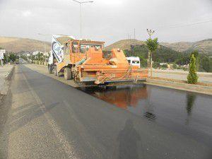 Köy yolları asfalt kaplama çalışmaları başladı
