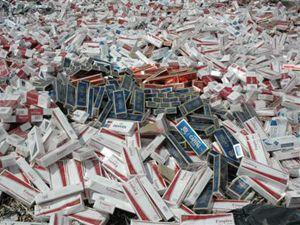 Beyşehirde kaçak sigara operasyonu