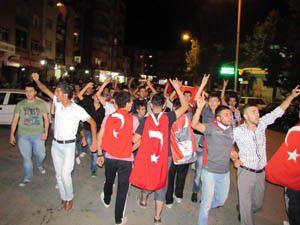 Seydişehirde PKK protesto edildi