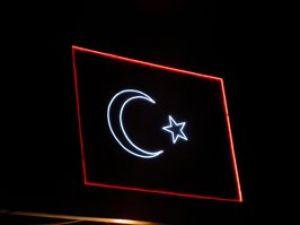 Akşehirde dev Türk bayrağı