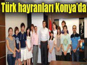 Japon öğrenciler Konyada