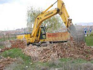 Ereğlide eski evler yıkılıyor