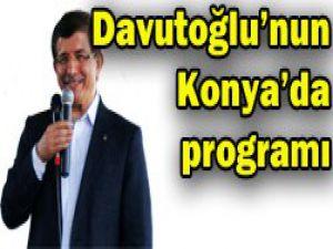 Bakan Davutoğlunun Konya programı