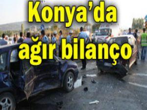 Konyada 3 ayrı kaza: 13 yaralı
