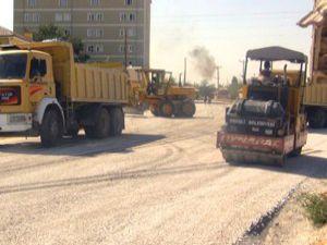 Ereğlide asfalt çalışması