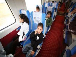 Çocukların Hızlı Tren keyfi