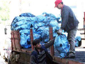 Ladikte 130 kişiye kömür dağıtıldı