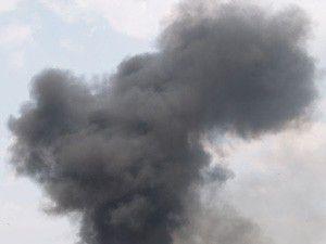 Çöp toplama merkezinden dumanlar yükseliyor