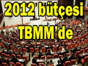 2012 yılı bütçesi TBMMye sunuldu