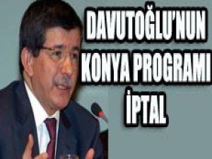 Davutoğlu programı iptal oldu