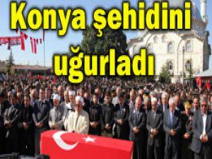 Konya şehidini kalbine gömdü(Foto)