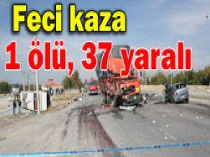 Afyonkarahisar-Konya yolunda kaza