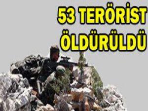 Hakkaride 53 terörist öldürüldü