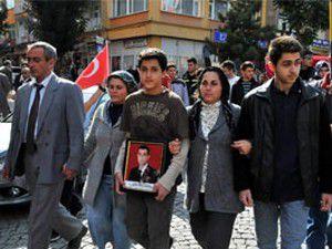 Akşehirde terör protestosu
