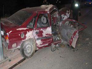 Konyada trafik kazası; 2 ağır yaralı