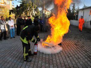 Akşehir Devlet Hastanesinde yangın tatbikatı