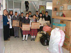 Kuluda İlköğretim Okulundan Vana yardım