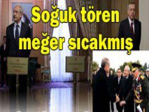 Kılıçdaroğlu Erdoğanla tokalaşmış