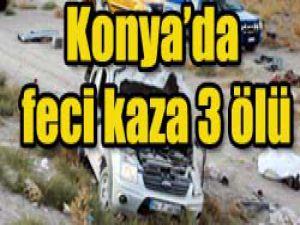 Konyada büyük kaza: 3 ölü