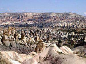 Kapadokyada sonbahar manzarası