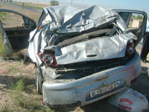 Düğün yolunda kaza
