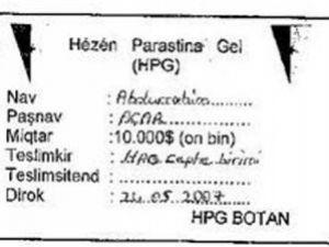 İşte PKKnın Vergi Makbuzu