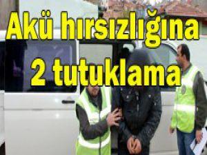 Konyada akü hırsızlığına 2 tutuklama