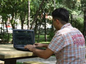Karatayın parklarında ücretiz internet hizmeti