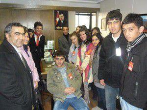 75. Yıl Lisesinden Türkmenoğluna ziyaret