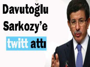 Davutoğludan Sarkozye cevap!