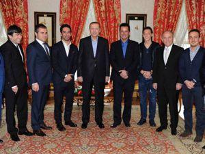 Arda ve Mesuttan Başbakana ziyaret