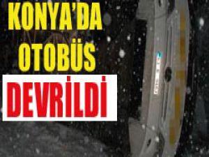 Konyada Otobüs devrildi 20 yaralı