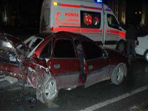 Konyada trafik kazası; 1 ölü
