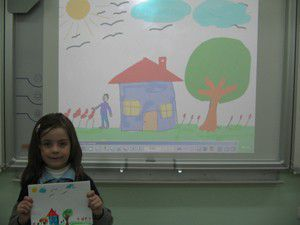 Öğrenciler, akıllı tahtayı sevdi