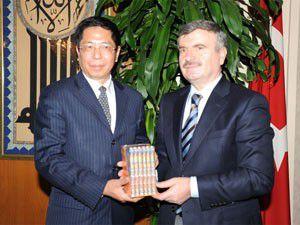 Çin heyeti Akyüreki ziyaret etti