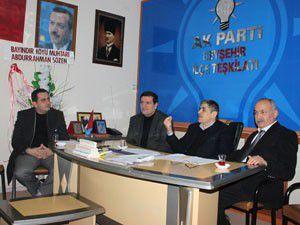 AK Parti Beyşehir İlçe Teşkilatında görev dağılımı