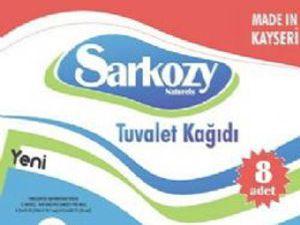 Sarkozy tuvalet kağıdına marka oldu