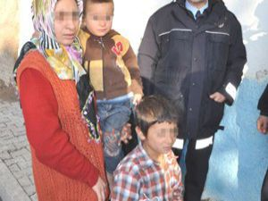 Konyada 4 çocuklu anne polise sığındı