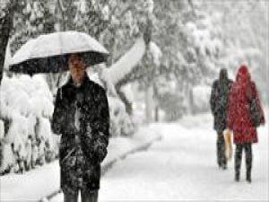 Konya dışında her yerde kar yağıyor