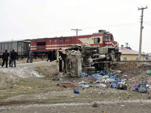 Ereğlide hemzemin geçitte kaza: 3 yaralı