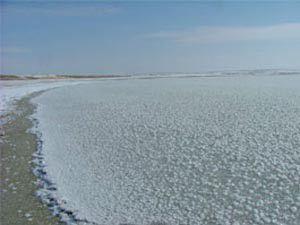 Konyada aşırı soğuk gölleri dondurdu