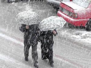 Konya yeni haftaya karla uyandı