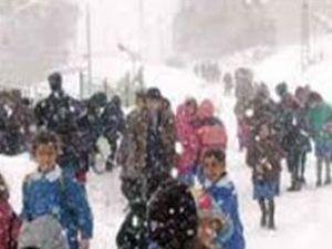Konyanın 2 ilçesinde kar tatili uzadı