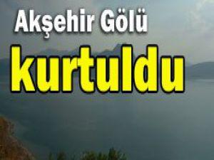 Yağışlar Akşehir Gölüne umut oldu